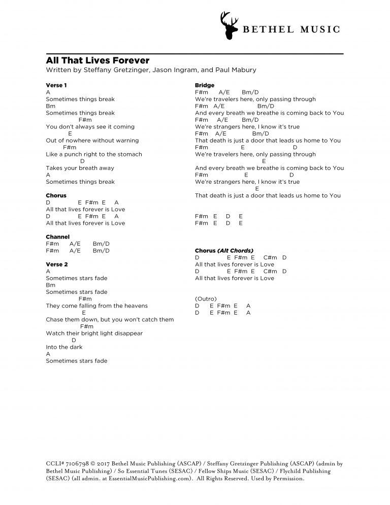 Modern Forever Bethel Chords Model - Chord Sites - creation-website.info